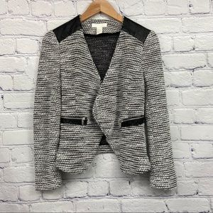H&M Ladies Black and White Speckled Cardigan